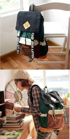 Unique New Trunk Travel Letters Canvas Backpacks for big sale! #trunk #new #unique #canvas #letter #backpack #bag