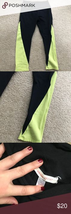 SOLOW LEGGINGS Yellow and black leggings. Great condition SOLOW Pants Leggings