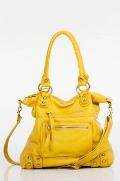 Linea Pelle Dylan Medium Tote in Yellow - Touch of Class La Crosse