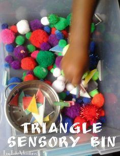 Triangle Sensory Bin