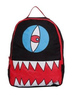 This Mojo Cyclops Backpack is super unique and cool. This bag features a awesome design of a crazy cyclops with his nashing teeth reading to gobble up those books! This packs classic black design and cool graphic is sure to make it a hit with anyone. Get yours Mojo Cyclops Backpack today.