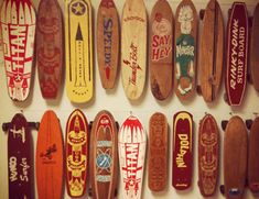 These boards have a retro 1950's feel to them, some of the fonts and styles, especially the colours are very current now