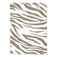 Cocoa Zebra Print Invite