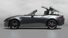 "Cars - Mazda MX-5 RF : la Miata passe en mode ""911 Targa"" ! - http://lesvoitures.fr/mazda-mx-5-rf-la-miata-passe-en-mode-911-targa/"