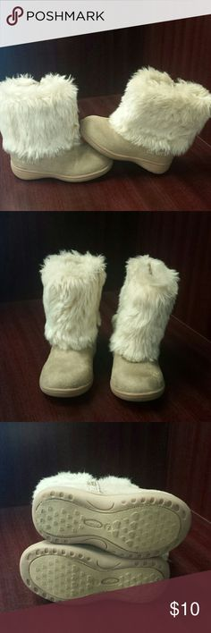 Warm and fuzzy Faux fur/suede boots....good condition barely worn Carter's Shoes Rain & Snow Boots