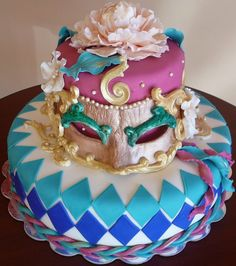 Masquerade Cake for your little Thespian!