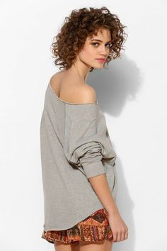 Project Social T Double Layer Slouch Pullover Sweatshirt #urbanoutfitters
