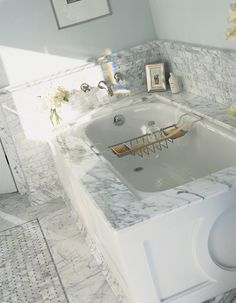 "Avalon Tile  Classic White Polished Marble 12""x12"""