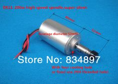 engraving machine spindle ER11 200W high speed spindle rush air cooled PCB spindle moto 1pcs