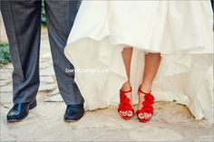 Bend The Light Photography - Red Wedding Shoes