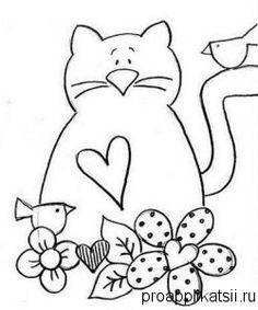 Art Patterns Fabric Pattern Ideas Applique Kitty Cats Primitive Country Primitives Cotton