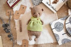 Crochet and knitting patterns by ShopStrawAnimals Crochet Toys Patterns, Amigurumi Patterns, Knitting Patterns, Amigurumi Tutorial, Knitted Animals, Crochet Bear, Amigurumi Toys, Handmade, Etsy