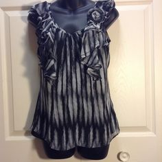 22a63494f852e2 ❤️FLASH SALE❤️Sheer woman s top Sheer woman s top with tank top lined  Worthington Tops