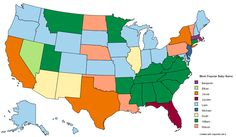 The Most Popular Baby Boy Names in 2013 by U.S. State