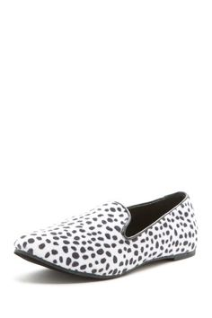 BootsiTootsi  Leopard Smoking Flat Shoe  ( I owned a similar shoe in the 80's with a slightly thicker sole.)   Maintain a fun and exotic image with this leopard print smoking shoe.  - Round toe  - Curved opening  - Slightly cushioned footbed  - Allover print  $56.00