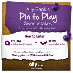 Ally Bank Launches Pinterest Page and 'Pin to Play' Sweepstakes