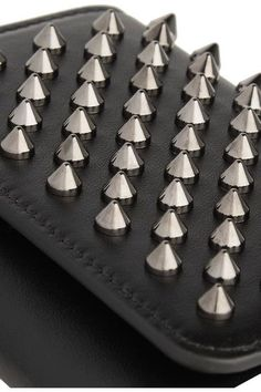 Christian Louboutin - Macaron Mini Spiked Leather Wallet - Black - one size