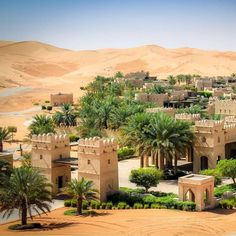 Qasr Al Sarab Desert Resort by Anantara Beautiful Hotels, Beautiful World, Beautiful Places, Wonderful Places, Abu Dhabi, Idees Cate, Places To Travel, Places To Visit, Time Travel