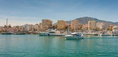Estepona Port, on the Costa del Sol, Spain. Beachfront Property, Andalucia, San Francisco Skyline, Property For Sale, New York Skyline, Spain, River, Outdoor, Image