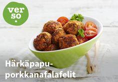 Härkäpapu-porkkanafalafelit  Resepti: Verso #kauppahalli24 #ruoka #resepti #falafeli