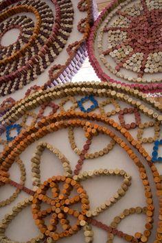 crafty cork mosaic