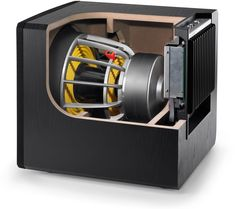 JL Audio E-Sub Powered Subwoofer - Inside Components Subwoofer Box Design, Speaker Box Design, Daisy Chain, Bass, High End Speakers, Best Smart Home, Speaker Plans, Jl Audio, Powered Subwoofer