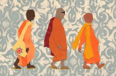 monks by Rebecca French