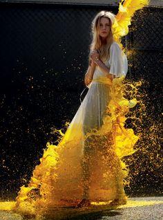 splash of yellow: Ieva Laguna & Tony Ward by Will Davidson for Russh #34