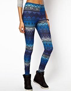 Leggings à imprimé aztèque bleu dégradé sur Asos.com ♥