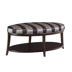 KOI ottoman / bench carries a stripe beautifully. Highland House Furniture by…
