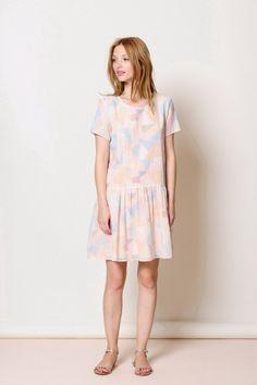 Vestido de mosaico Rabbat 100% algodón - vestido de mujer - Des Petits Hauts