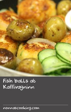 """Fish balls at Kaffivagninn 