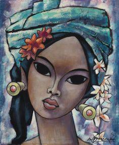 Balinese woman 2 by Auke Sonnega