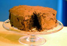 Not the prettiest picture, but going to make this for the manfriend's birthday. Got great reviews. Coconut frosting between the layers? One reader added coconut milk to the chocolate frosting to make it creamier.