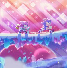 Sonic And Amy, The Sonic, Sonic Boom, Hedgehog Game, Sonic The Hedgehog, Classic Sonic, Sonic Mania, Sonic Fan Art, Blue Streaks