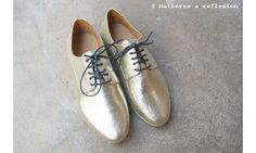 Atelier do Sapato derbies doré snake #atelierdosapato #gold #sneakers #derbies#onsale #promo #solde