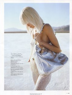 Dewi Driegen's beautiful hair again, from ELLE May 2009