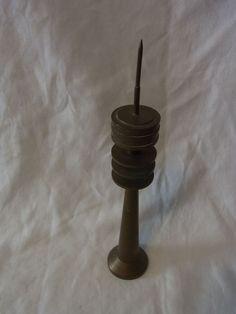 Vintage German Metal Miniature Souvenir Building TV Tower  #K
