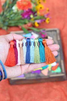 2 Inch Silky Jewelry Tassels SPRING Pantone Colors Handmade