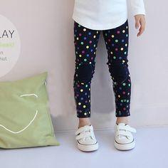 IVE 2015 Girl Leggings Girls Dots Pants Kids Leggings Children Spring Pants Girl Trousers IG609
