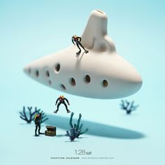 Submarine The ocarina /ɒkəˈriːnə/ or /oʊkəˈriːnə/ is an ancient wind musical instrument—a type of vessel flute. Variations exist, but a typical ocarina is an enclosed space with four to twelve finger holes and a mouthpiece that projects from the body. The ocarina belongs to a very old family of instruments, believed to date back over 12,000 years. Ocarina-type instruments have been of particular importance in Chinese and Mesoamerican cultures.