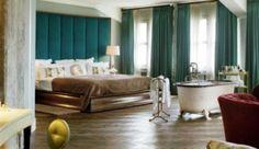 Soho House Berlin | Jabiroo Soho House Berlin, Curtains, Bed, Furniture, Home Decor, Blinds, Decoration Home, Stream Bed, Room Decor