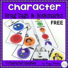 Teach Character with Brag Tags, Bookmarks, & Fables - Primary Flourish Character Qualities, Character Trait, Character Education Lessons, Brag Tags, Community Building, Readers Workshop, Conflict Resolution, Core Values, Behavior Management