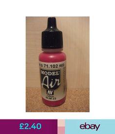 Av Vallejo Model Air Red Airbrush Paint Val102 rlm 23