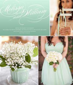 Mint Wedding Inspiration #wedding #mint #weddinginspiration