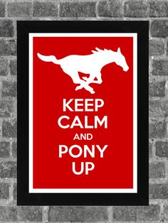 Keep Calm SMU Mustangs NCAA Print Art 11x17 by KCPrinting on Etsy, $14.99