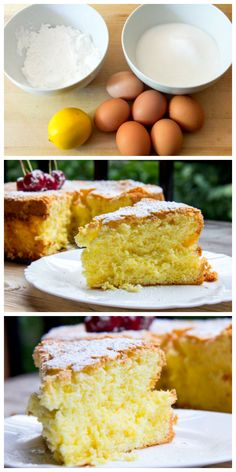 A wonderful light, airy lemon sponge cake which not only has NO gluten, but also has NO added fat! // #Lemon #GlutenFree