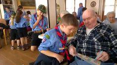 Gli scouts tra gli anziani di Novara