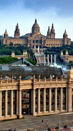 National Museum in Barcelona. I still love Barcelona. but why are the people of Barcelona so extremely unfriendly? Places Around The World, The Places Youll Go, Travel Around The World, Places To See, Around The Worlds, Wonderful Places, Beautiful Places, Magic Places, Barcelona Travel