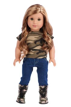 df672308788 Military Style - 4 piece doll outfit - Camouflage Jacket